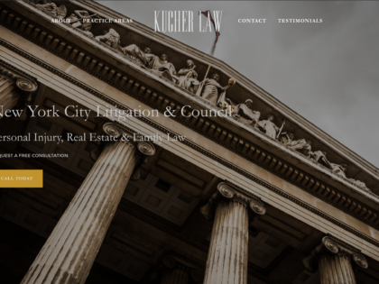 Kucher Law Branding, Creative Direction, Web Design, & Internet Marketing